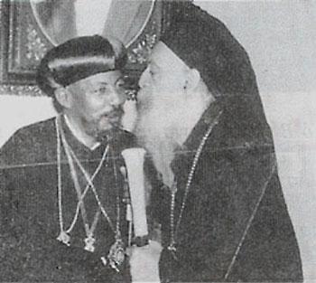 Афинагор I с эфиопским патриархом Абуной Феофилом, Стамбул, 1971