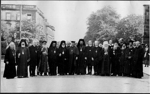 """Митр. Евлогий. Конференция экуменического движения """"Вера и церковное устройство""""."""