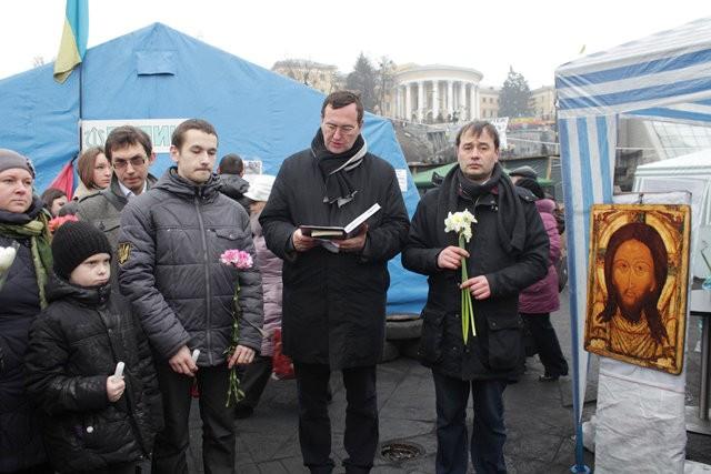 Община святого Эгидия на Майдане. 3 марта 2014 года