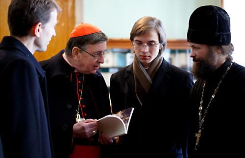 Кардинал Кох в Святот-Тихоновском университете. 15 марта 2011 г.