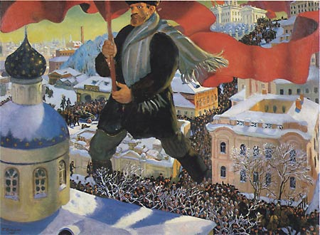 Б. Кустодиев. Большевик. 1920 г.