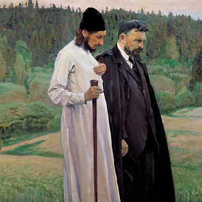 о. П.А. Флоренский и о. Сергий Булгаков.
