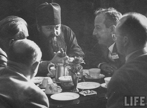 Никодим Ротов на 3-й Ассамблее ВСЦ в Нью-Дели. Декабрь 1961 года