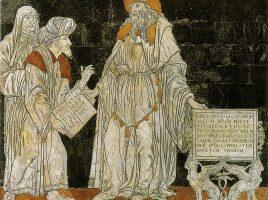 Гермес Трисмегист. Мозаика на полу кафедрального собора Сиены, 1480-е годы.