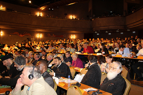 """В Будапеште проходит ассамблея Конференции европейских церквей (КЕЦ). Тема ассамблеи: """"Чего же ты ждешь? КЕЦ и ее миссия в меняющейся Европе"""". В заседаниях участвуют представители Православных Церквей, в частности митр. Галльский Эммануил (Константинопольский Патриархат)."""