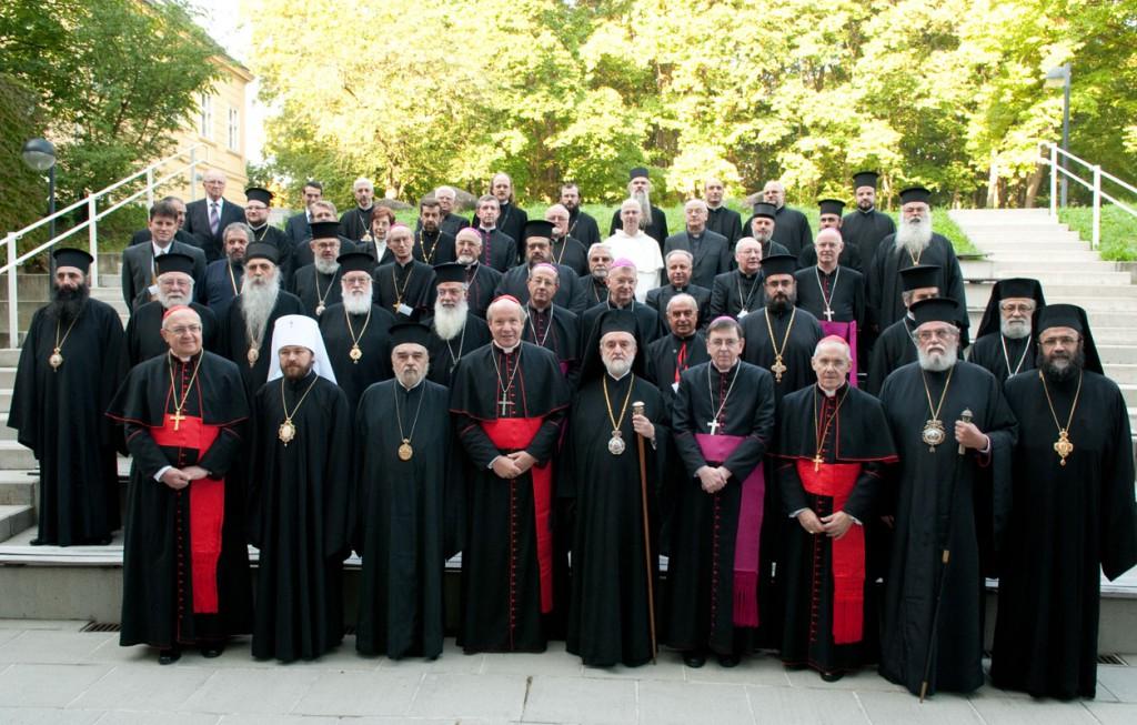 Вена, октябрь 2010. митр. Каллист (Уэр) на заседании Смешанной комиссии по православно-католическому диалогу