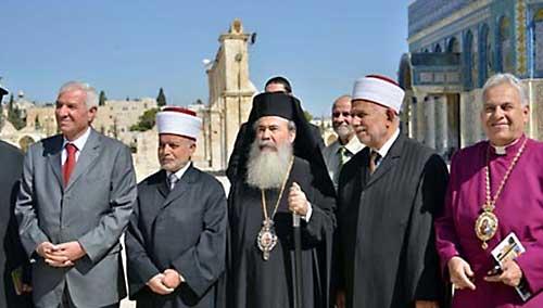 30 сентября Патриарх Иерусалимский Феофил вместе с главами христианских конфессий Палестины посетили мечеть Аль-Акса в знак поддержки магометан, которые страдают от агрессии со стороны сионистов.