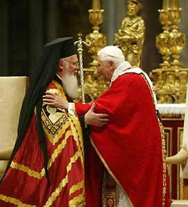 Патриарх Варфоломей I в Ватикане. Июнь 2008 г