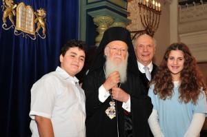 Варфоломей I в синагоге Парк-Ист, Нью-Йорк