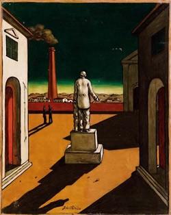 Джордж де Кирико. Итальянская площадь с памятником Кавуру.