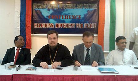 О. Чаплин, Всеволод Анатольевич на семинаре «Религии: стремление к миру» в Ченнаи (Индия) 2011 г.