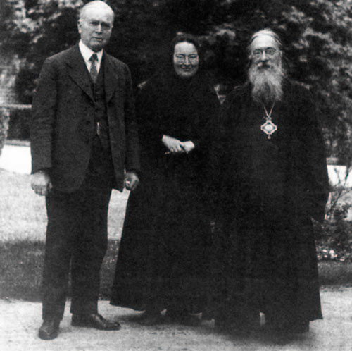 Митр. Евлогий, Джон Мотт и мать Мария (Скобцова)