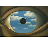 René Magritte. The False Mirror (1928)