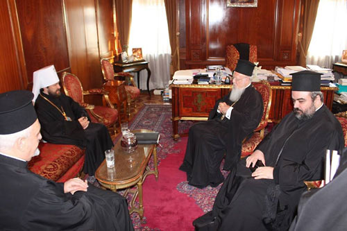 Патриарх и митрополит.