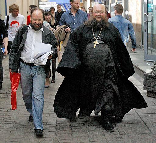 О. Сергий (Рыбко) с руководителем «православного» корпуса движения «Наши» Борисом Якеменко