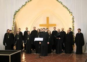 Хор духовенства Санкт-Петербургской митрополии выступил на лютеранском приходе.