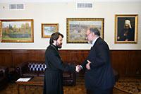 Митрополит Иларион встретился с послом Ирана в России