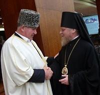 православно-исламский диалог. Муфтий Исмаил Бердиев с еп. Бакинским и Прикаспийским Александром