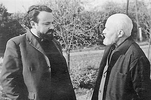 о. Мень, Александр Вольфович и о. Сергий Желудков. 1976 г.