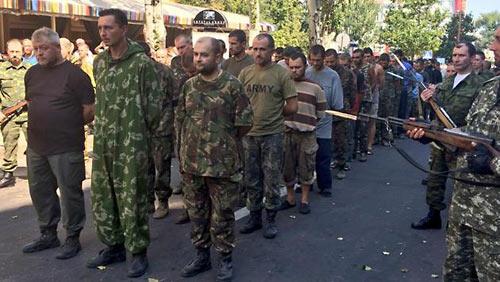Семинарист Волынской семинарии на параде позора