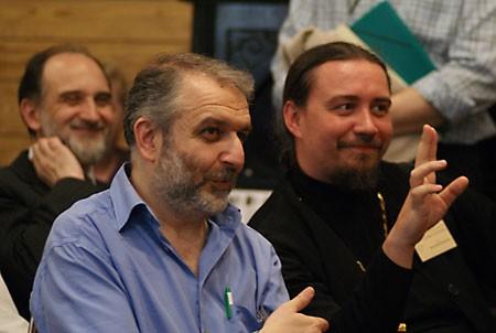 О. Димитрий Карпенко с Д. Гзгзяном и А. Копировским в СФИ.