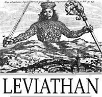 """Титул книги Томаса Гоббса """"Левиафан"""" (1651 г.)."""