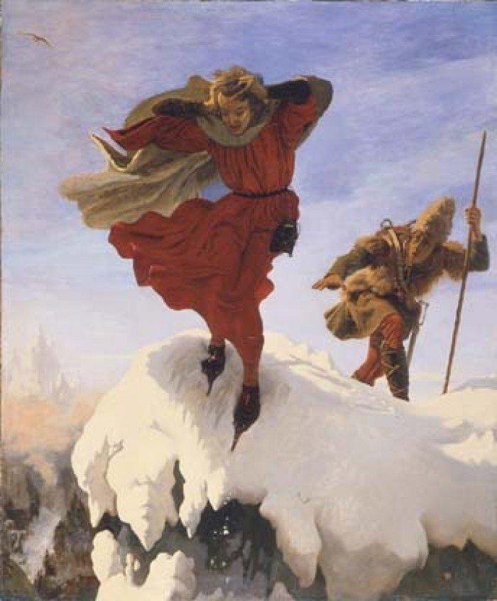 Манфред на Юнгфрау. Ф. М. Браун, 1842