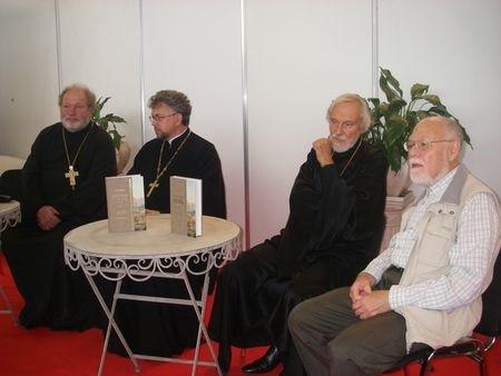 О. Владимир Силовьев, о. Григоренко, о. Александр Борисов и Евгений Рашковский.