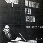 """мирология. Митр. Никодим (Ротов) выступает на 5-м """"Всехристианском мирном конгрессе"""" в Праге. Июнь 1978 г."""