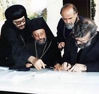 Диалог православных с антихалкидонитами. Митр. Дамаскин Швейцарский (сидит слева).