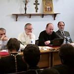 О. Андрей Мояренко (второй справа) на конференции секты о. Кочеткова в мае 2012 г.