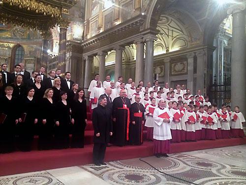 Экуменический диалог: в Риме встретились Синодальный хор из Москвы и папская Сикстинская музыкальная капелла.
