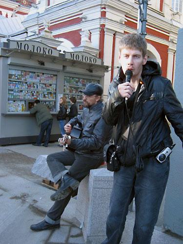 """Священик Николай Кокурин и """"Вальдемар Блаженный"""" в Климентовском переулке."""