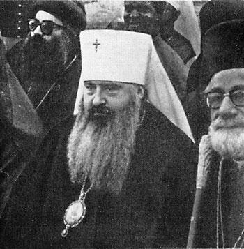 Никодим Ротов. Последняя фотография: на мессе по случаю интронизации папы Иоанна-Павла I. Рим, 1978 г.