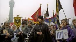 Протесты в Останкино против кощунственного фильма Скорсезе