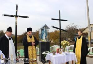 Освящение православного и католического крестов