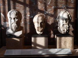 Платон, Аристотель, Сократ. Лувр.