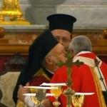 Патриарх Варфоломей на папской мессе