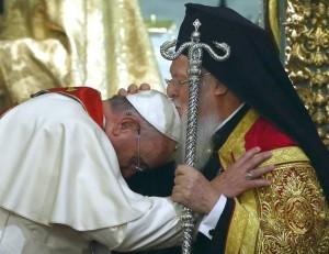 Папа в храме святого Георгия на Фанаре