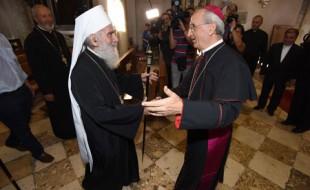 Патриарх Ириней и Желимир Пулич.