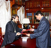 Митр. Иларион тепло приветствовал руководителя РХГА.