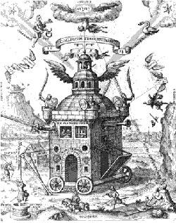 """розенкрейцеры. """"Храм розового Креста"""", 1618 г. Daniel Mogling"""