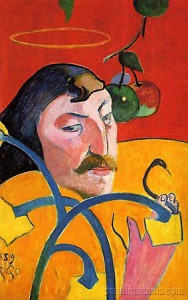 П. Гоген. Портрет с нимбом. 1889 г.