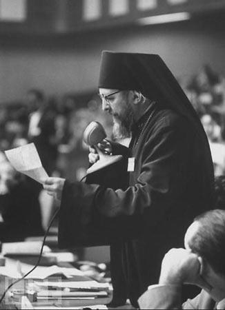 архиеп. Иоанн Шаховской на ассамблее Всемирного совета церквей, 1961 г. Нью-Дели