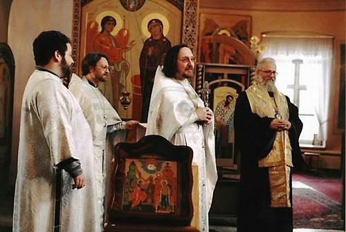 еп. Серафим (Сигрист), о. Георгий Чистяков, о. Антоний Лакирев.