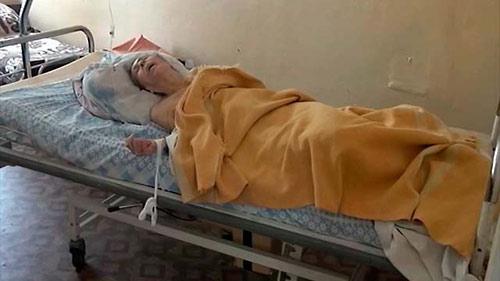 """""""Вы, как Президент нашего государства, прилагаете много усилий для восстановления мира в Донецкой и Луганской областях"""". Раненый в больнице Славянска, 3 июня."""