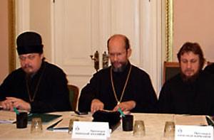 С о. Николаем Балашовым и о. Александром Марченковым на круглом столе «Подготовка ко Святому Причащению»
