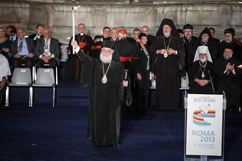Патриарх Феодор II. «Молитва о мире». Рим, 2013 г.