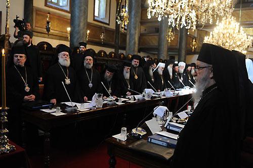 Патриарх Феодор II на Совещании в марте 2014 г.