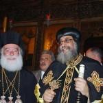Патриарх Феодор и коптский патриарх Феодор. Каир, 2012 г.